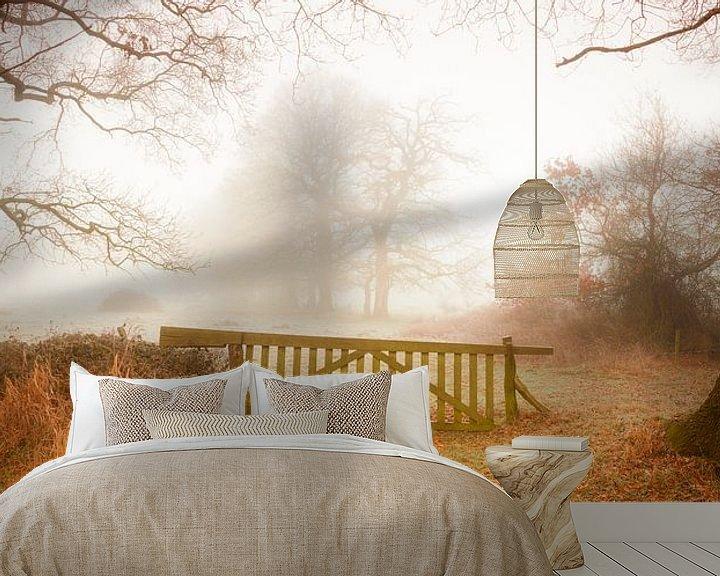 Sfeerimpressie behang: Herfst van Ton Drijfhamer