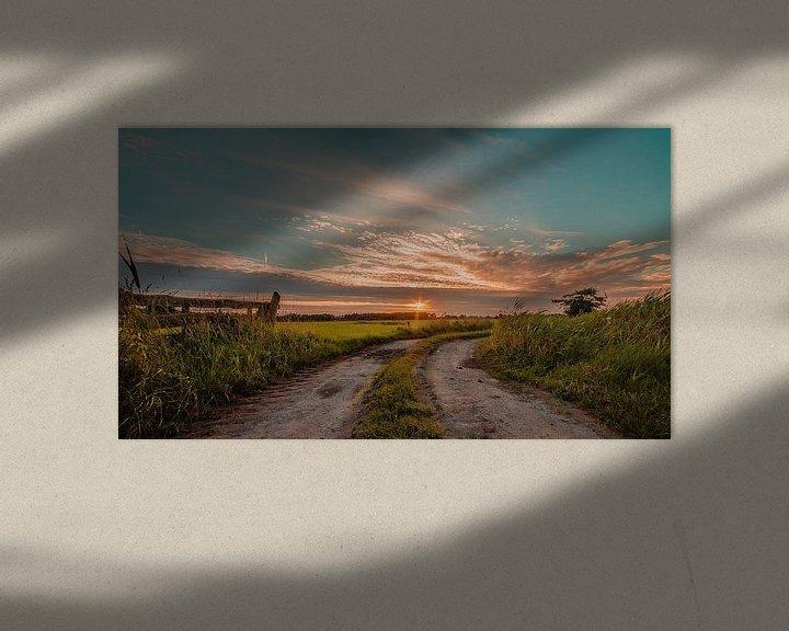 Sfeerimpressie: Pad naar de zonsondergang van R Smallenbroek