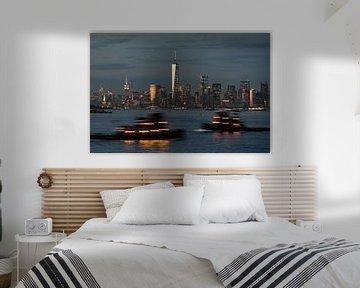 New York  mit dem Hudson River van Kurt Krause