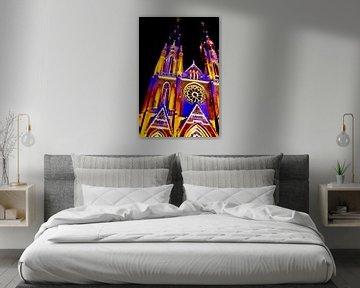Verlichte Kerk van Margriet Cloudt