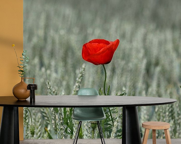 Sfeerimpressie behang: Flower in the Field... van Rob van der Teen