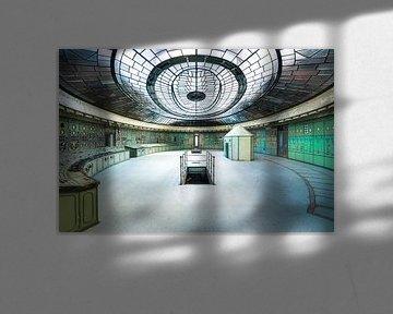 Verlaten Art Deco Controle Kamer.