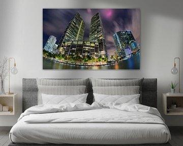 Brickell Skyline met Fisheye lens van Mark den Hartog