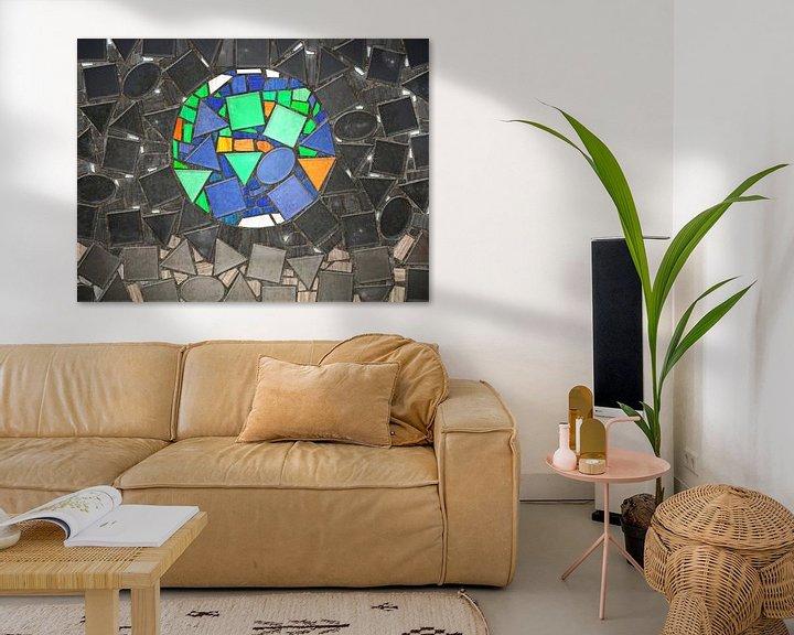 Sfeerimpressie: Mozaiek Earthrise van Frans Blok
