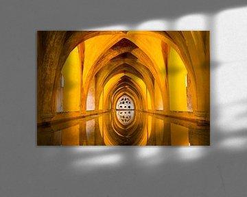 Badhuis van het koninklijk paleis in Sevilla sur Antwan Janssen
