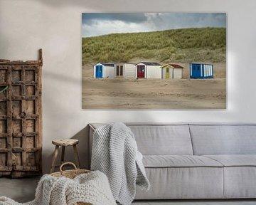 Strandhuisjes van Ad Jekel