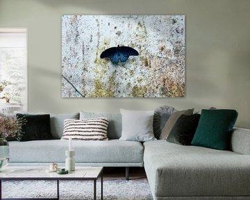 Blue butterfly van Anne Koop