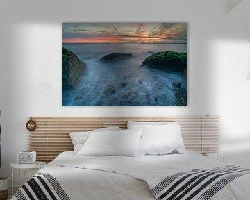 Zonsondergang bij de pier in IJmuiden van Ardi Mulder