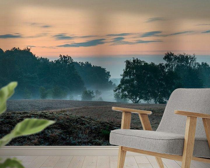 Sfeerimpressie behang: Misty Morning Bergerheide van William Mevissen