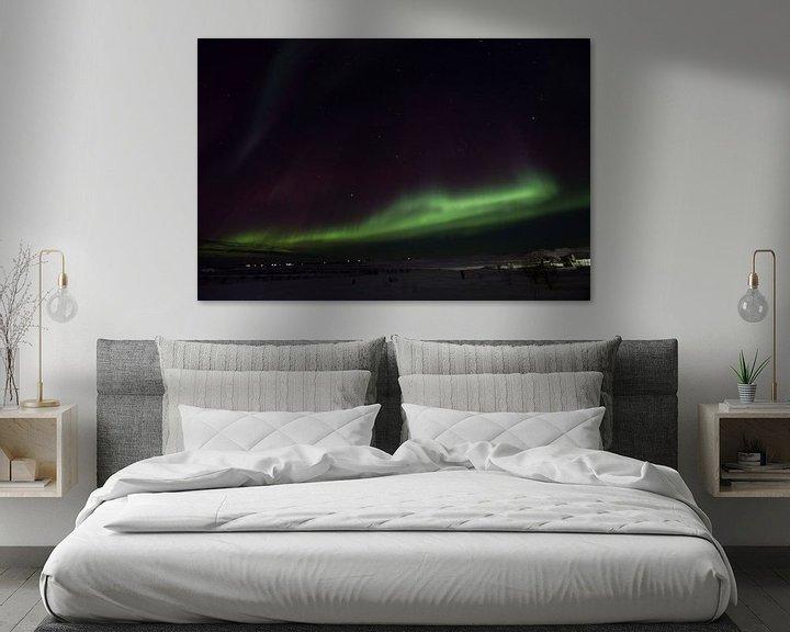 Beispiel: Nordlichter in Island über den Berg . von Arjan Groot