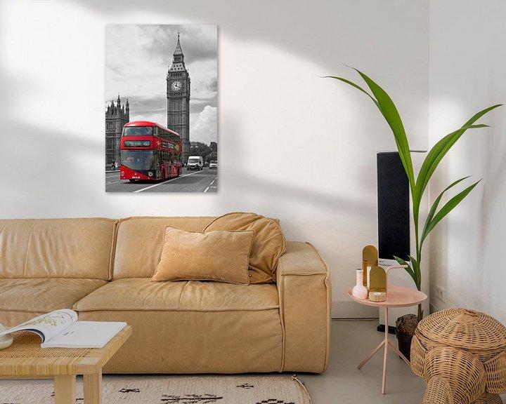 Sfeerimpressie: Londen bus met Big Ben van Anton de Zeeuw