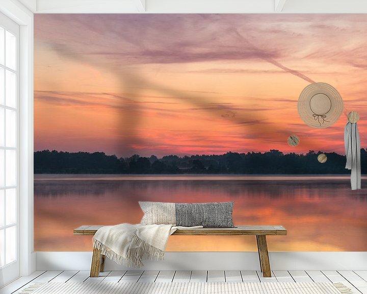 Sfeerimpressie behang: Colorful Twilight Reindersmeer van William Mevissen