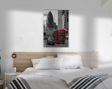 London Bus und Taxi schwarz / weiß von Anton de Zeeuw