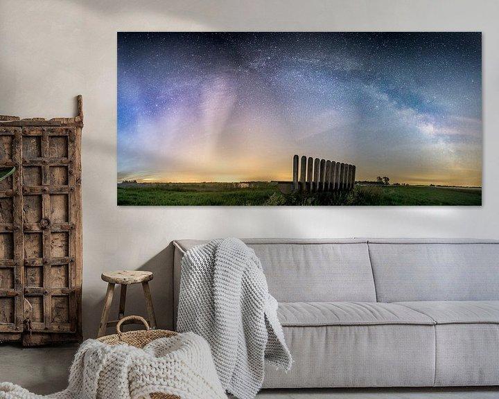 Sfeerimpressie: Het sterrenstelsel gezien van het Leekstermeer van Hessel de Jong