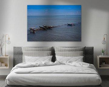 Prauwen op zee van Marc Arts