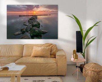zonsopkomst bij de IJsselmeer bij Enkhuizen von Ardi Mulder