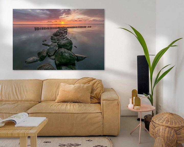 Beispiel: Sunrise at the IJsselmeer lake at Enkhuizen in The Netherlands  von Ardi Mulder