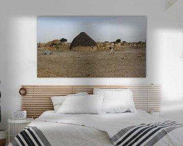 Dorp in de Thar Desert - India  van Gerrit  De Vries