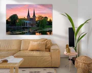 Mooie luchten boven de Oostpoort Delft