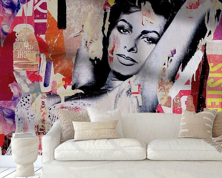 Sfeerimpressie behang: All of it van Michiel Folkers