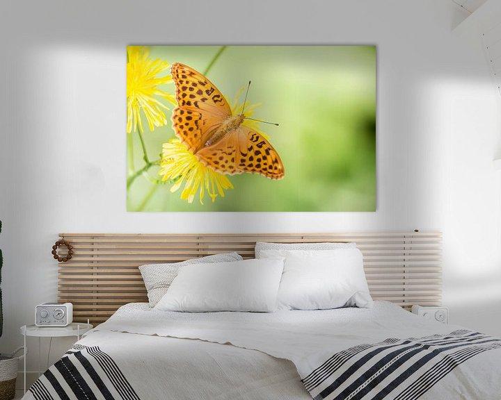 Sfeerimpressie: Keizersmantel vlinder op bloem van Mark Scheper