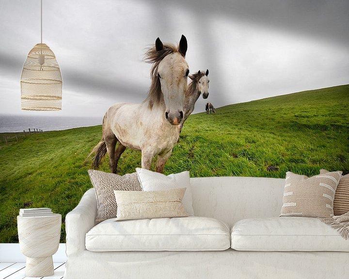 Sfeerimpressie behang: Wild horses van Eelko Lommers