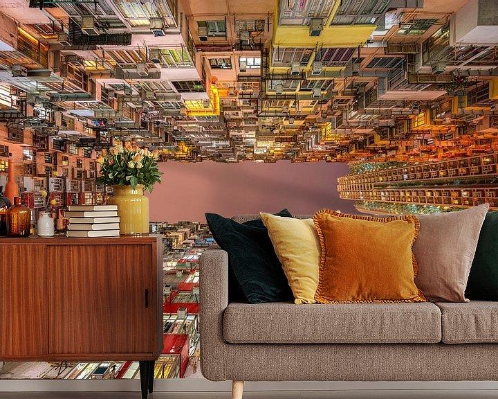 Sfeerimpressie behang: Hong Kong van Photo Wall Decoration