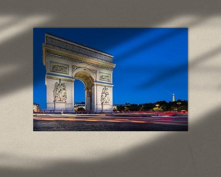 Sfeerimpressie: Arc de Triomphe bij avondlicht van JPWFoto