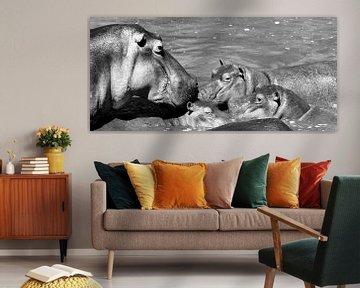 Nijlpaard familie von Annemarie Winkelhagen