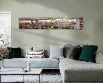 Panorama view Rotterdam van Pritish Ramkisoen