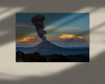 Vulkaan eruptie Sumatra van Marcel Bettonville