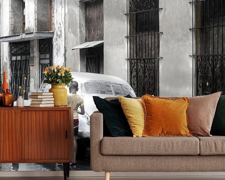Impression: Oldtimer - Havana - in the rain sur Annemarie Winkelhagen