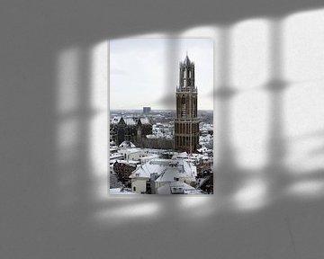 De Dom van Utrecht in de winter van Merijn van der Vliet