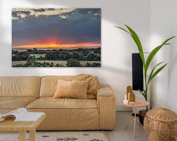 Zonsondergang, midden-Frankrijk