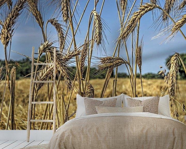 Sfeerimpressie behang: Aan de rand van het korenveld van Frans Blok