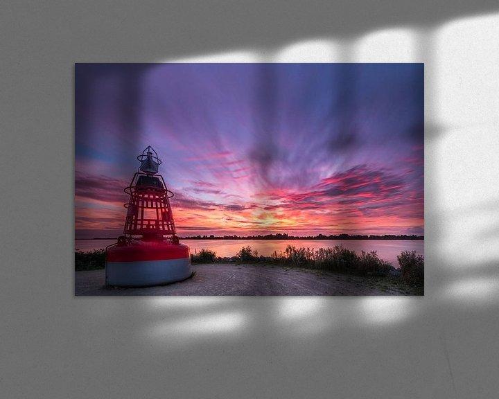 Sfeerimpressie: Zonsondergang bij Westeinderplassen in Aalsmeer van Ardi Mulder