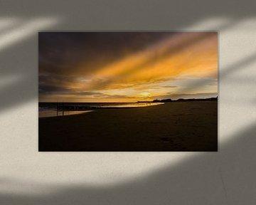 Zonsondergang Strand van Johan Dingemanse