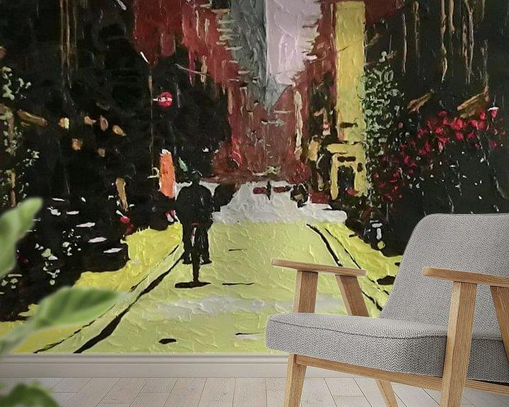 Sfeerimpressie behang: straatkat van Harry Gijsberts