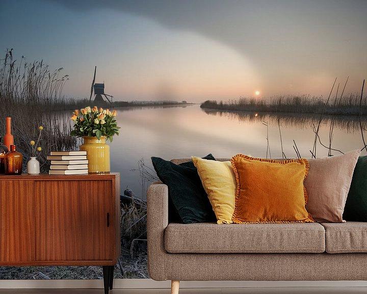 Sfeerimpressie behang: Koude wintermorgen van Raoul Baart