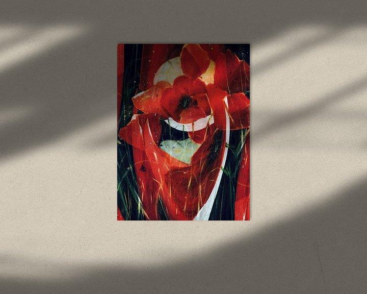 Beispiel: Roter Mohn - abstrakt von Christine Nöhmeier