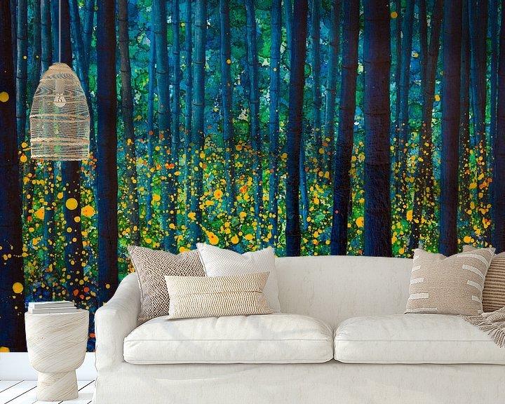 Sfeerimpressie behang: FIREFLIES van db Waterman