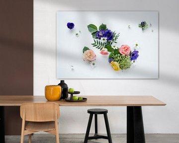 Bloemen boeket op wit von Nicole Schyns