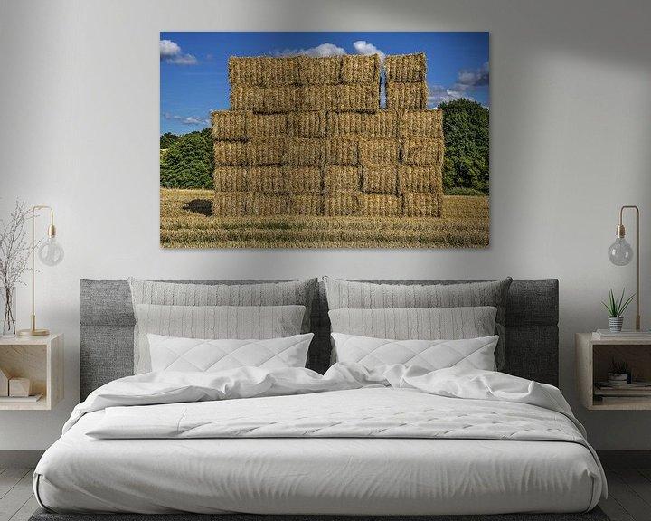 Sfeerimpressie: Een muur van stro van Frans Blok
