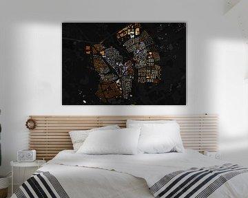 Kaart van Geldrop abstract van Stef Verdonk