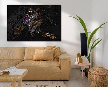 Kaart van Roermond abstract sur Stef Verdonk