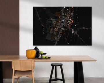 Kaart van Veendam abstract