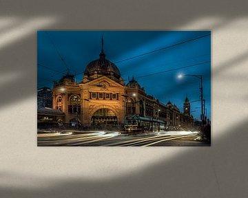 Flinders Station flow trough Time von Remco van Adrichem