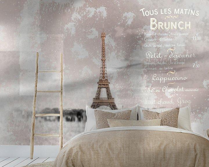 Beispiel fototapete: PARIS Collage von Melanie Viola