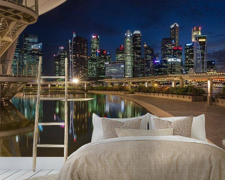 Sfeerimpressie behang: Singapore architecture van Ilya Korzelius