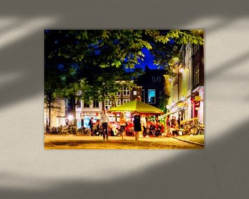 Avond bij het Stadhuisplein, Utrecht. 002. van George Ino